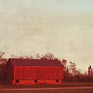 old red barn by beverlylefevre