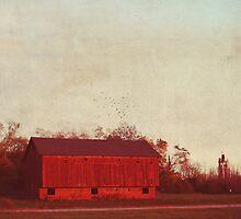 old red barn by beverlylefevre