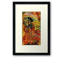 Red Rock View Framed Print