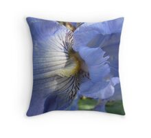Pale Blue Bearded Iris, Botanical Gardens, Adelaide. Throw Pillow