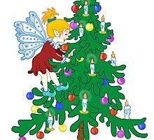 Christmas Tree Elf by redqueenself
