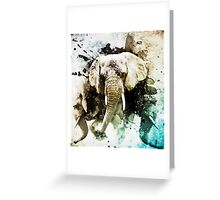 Explosion of Elephants Greeting Card
