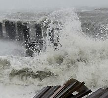 The end of the dock - Hurricane Sandy by Choux