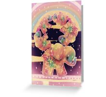 elephants balancing Greeting Card