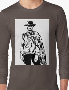 Clint Eastwood Sketch Long Sleeve T-Shirt
