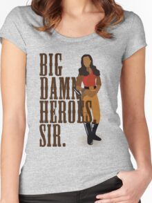 Big Damn Heroes, sir. Women's Fitted Scoop T-Shirt