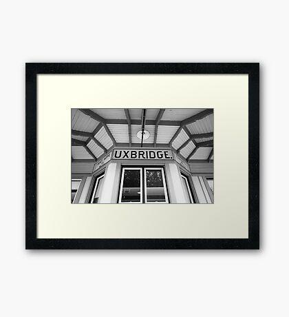 Uxbridge Station Framed Print