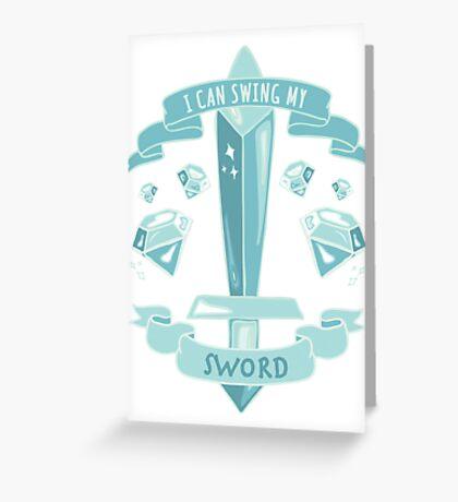 Diamond Sword - Tshirt Greeting Card