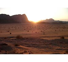 Sunset in Wadi-rum Photographic Print