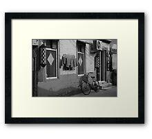 Beijing Barbershop Framed Print