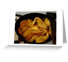 Caremalised apple slices Greeting Card