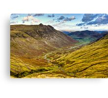 Great Langdale Valley - Cumbria Canvas Print