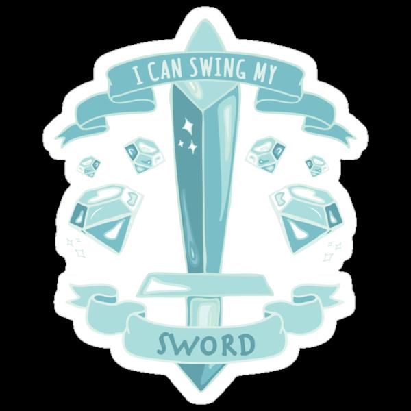 Diamond Sword - Sticker by AshWarren