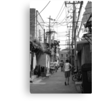 A Glimpse of Hutong Life Canvas Print