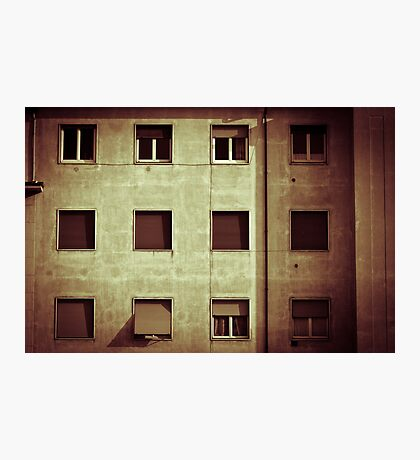 Windows with man Photographic Print