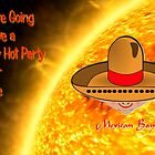 A Hot Party at our House - greetings card by Dennis Melling