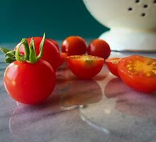 Fallen Cherry Tomatoes by umeimages