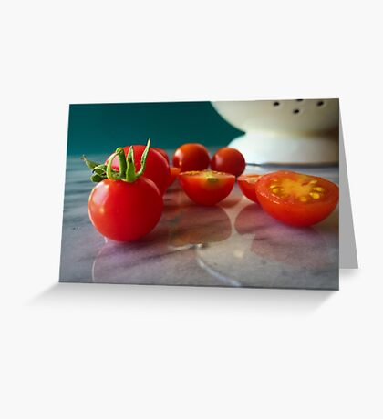 Fallen Cherry Tomatoes Greeting Card