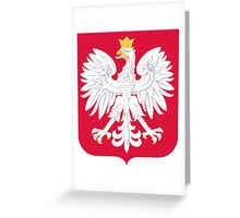 Coat of Arms of Poland Greeting Card