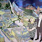 Hillhead Underground Mural by biddumy