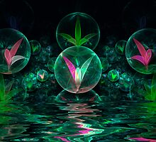 Pond Spheres by Pam Amos