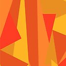 Abstract triangles background by Ana Marques