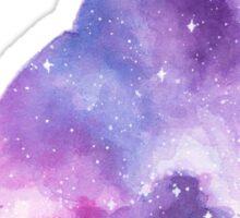 Space Cat Watercolor Sticker