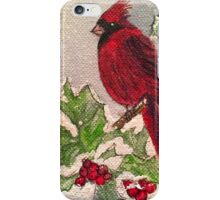 Cardinal in Winter iPhone Case/Skin