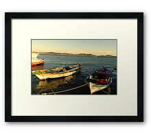 The Boats Framed Print