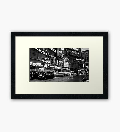 Toronto Night Scene Framed Print