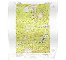 USGS Topo Map Washington State WA Pe Ell 243107 1953 62500 Poster