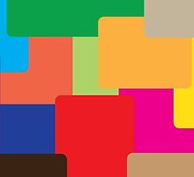 Coloured squares by PJ Fowler