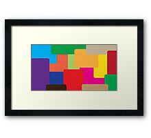 Coloured squares Framed Print