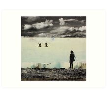 ANYWAY THE WIND BLOWS Art Print