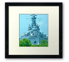 Battleship ALABAMA Framed Print