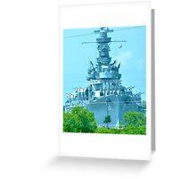 Battleship ALABAMA Greeting Card