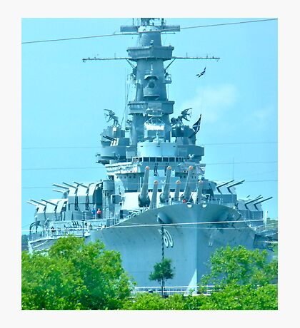 Battleship ALABAMA Photographic Print
