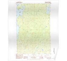USGS Topo Map Washington State WA Dickey Lake 240858 1984 24000 Poster