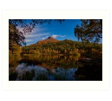 Autumnal Glencoe Lochan Art Print
