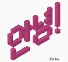8-bit Annyeong! (Magenta Sticker) by 9thDesignRgmt