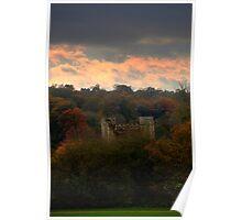 Autumnal ruins Poster
