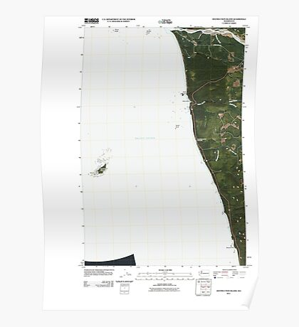 USGS Topo Map Washington State WA Destruction Island 20110418 TM Poster
