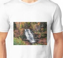 Rainy Autumn Afternoon At Erie Falls Unisex T-Shirt