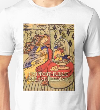 I Support Public Breastfeeding (Oskar Kokoschka, Mother and Son) T-Shirt