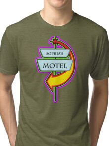 Sophia's Motel campy truck stop tee  Tri-blend T-Shirt
