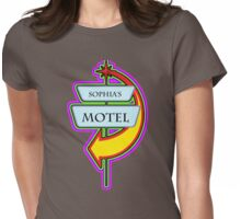 Sophia's Motel campy truck stop tee  Womens Fitted T-Shirt