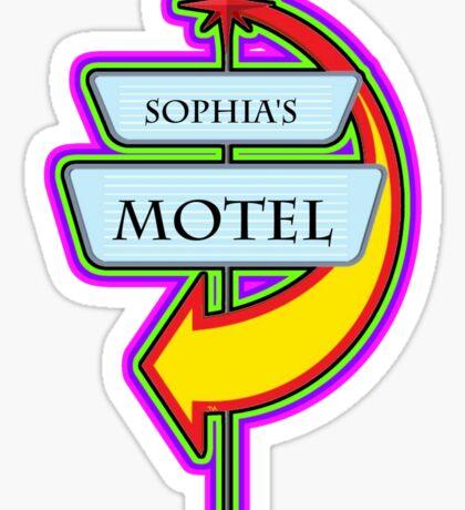 Sophia's Motel campy truck stop tee  Sticker