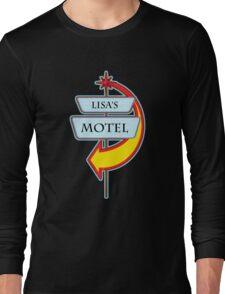 Lisa's Motel campy truck stop tee  Long Sleeve T-Shirt