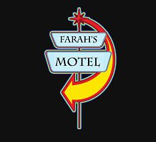 Farah's Motel campy truck stop tee  Womens Fitted T-Shirt