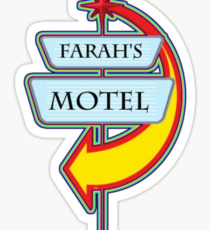 Farah's Motel campy truck stop tee  Sticker
